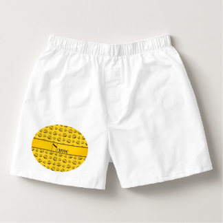 Personalized name yellow justice scales boxers