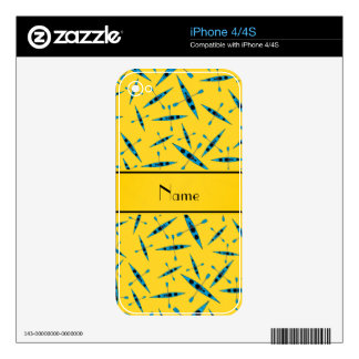 Personalized name yellow kayaks decal for the iPhone 4S
