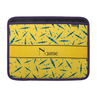 Personalized name yellow kayaks sleeve for MacBook air