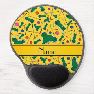 Personalized name yellow mini golf gel mouse pads