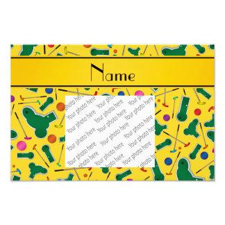 Personalized name yellow mini golf photograph