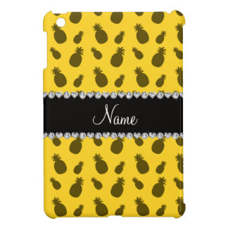Personalized name yellow pineapple pattern iPad mini cases