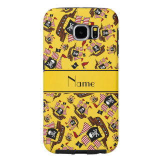 Personalized name yellow pirate ships samsung galaxy s6 cases