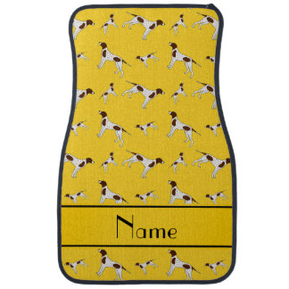 Personalized name yellow Pointer dogs Car Floor Mat