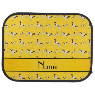 Personalized name yellow Pointer dogs Car Mat