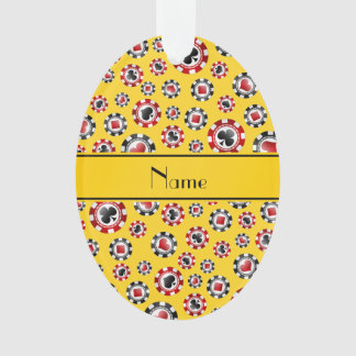Personalized name yellow poker chips