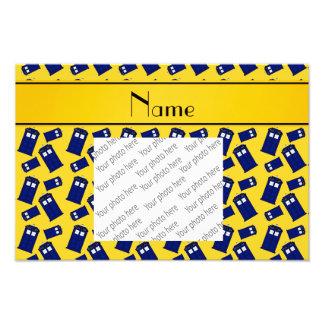 Personalized name yellow police box photo print