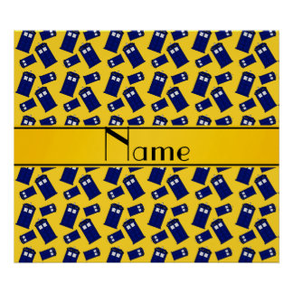 Personalized name yellow police box poster