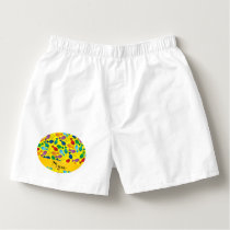 Personalized name yellow rainbow narwhals boxers