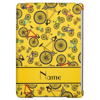Personalized name yellow road bikes iPad air cover