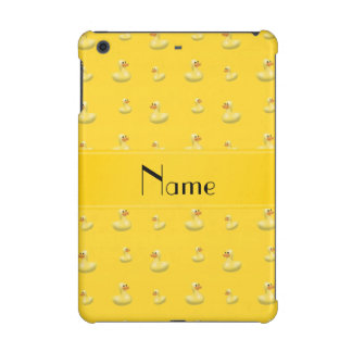 Personalized name yellow rubber duck pattern iPad mini cover