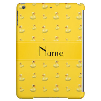 Personalized name yellow rubber duck pattern iPad air cases