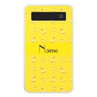 Personalized name yellow rubber duck pattern power bank