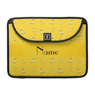 Personalized name yellow rubber duck pattern sleeves for MacBook pro