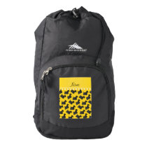 Personalized name yellow scottish terrier dogs high sierra backpack