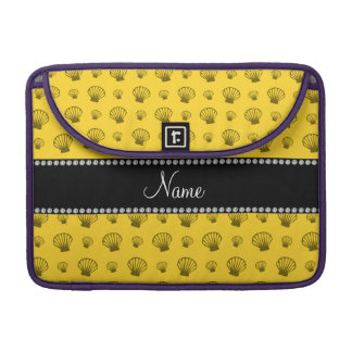 Personalized name yellow shells sleeve for MacBook pro