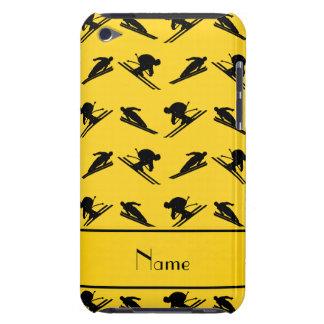 Personalized name yellow ski pattern iPod touch case