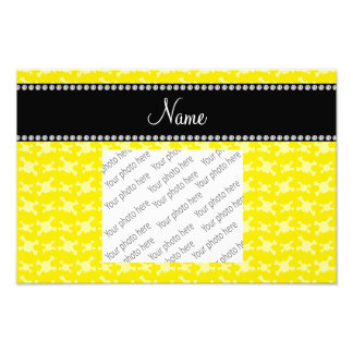 Personalized name yellow skulls pattern photograph
