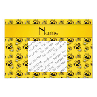 Personalized name yellow sugar skulls photographic print