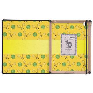 Personalized name yellow tennis balls iPad case