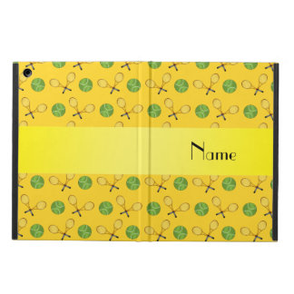 Personalized name yellow tennis balls iPad air covers
