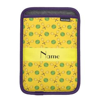 Personalized name yellow tennis balls sleeve for iPad mini