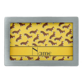 Personalized name yellow welsh corgi cardigan dogs belt buckles