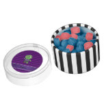 Personalized name zombie purple chevrons chewing gum favors