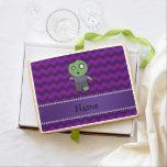 Personalized name zombie purple chevrons jumbo cookie