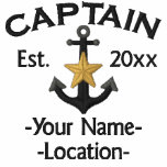 Personalized Names Year Boat Captain Star Anchor Polo