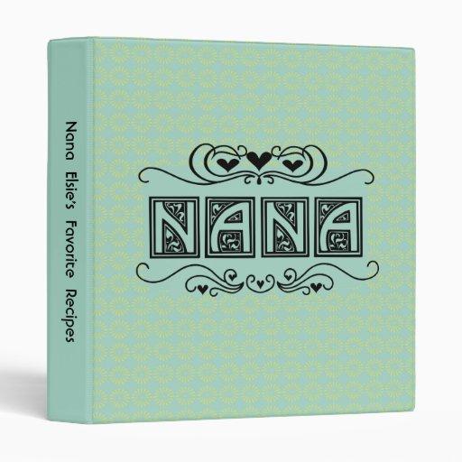 Personalized Nana Recipe or Photo Binder
