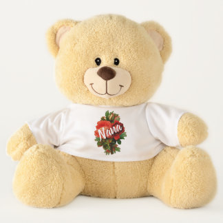 Personalized Nana with Roses Teddy Bear