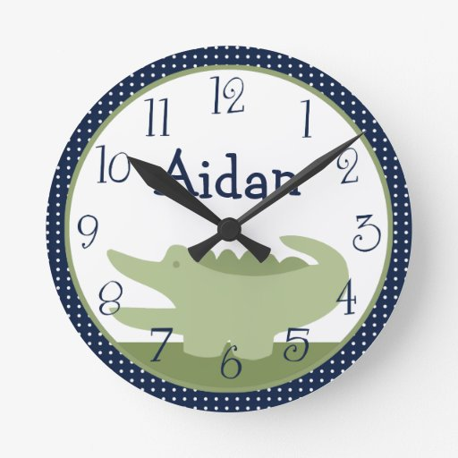 Personalized Nantucket Alligator Clock