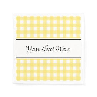 Personalized napkins | yello gingham plaid design