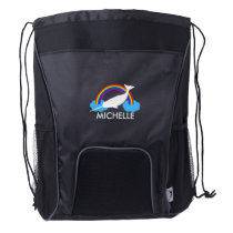 Personalized Narwhal Drawstring Backpack