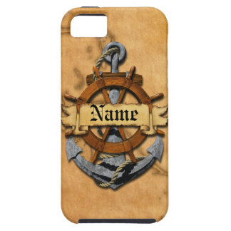 Personalized Nautical Anchor And Wheel iPhone 5 Cover