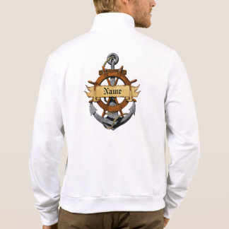 Personalized Nautical Anchor And Wheel Jacket