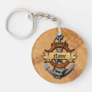 Personalized Nautical Anchor And Wheel Keychains