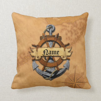 Personalized Nautical Anchor And Wheel Pillows