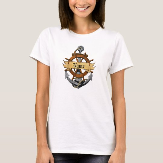 Personalized Nautical Anchor And Wheel T-Shirt