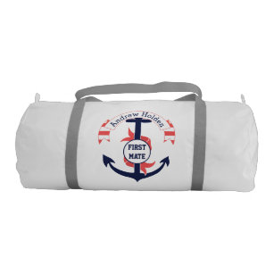 Personalized Nautical Anchor Banner Duffle Bag 02d8d638570d1