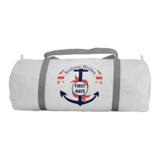 Personalized Nautical Anchor Banner Duffle Bag
