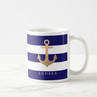 Personalized | Nautical Anchor Classic White Coffee Mug