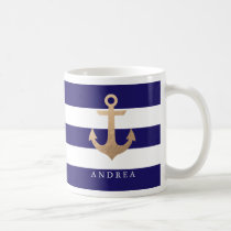 Personalized | Nautical Anchor Coffee Mug