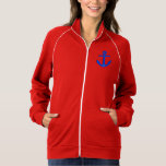 Personalized Nautical Anchor Fleece Track Jacket
