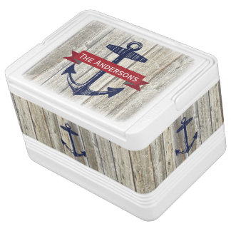 Personalized Nautical Anchor Igloo Drink Cooler