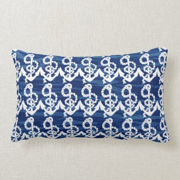 Beach Themed Personalized Nautical Anchor Living the Dream Lumbar Pillow