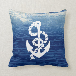 Personalized Nautical Anchor Living the Dream Pillow