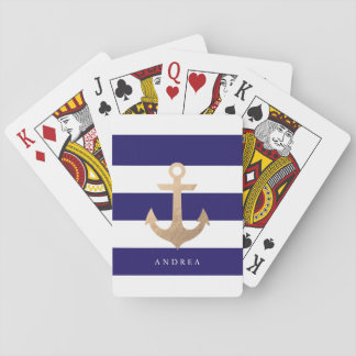 Personalized | Nautical Anchor Poker Deck