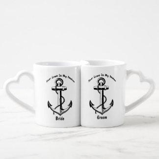 Personalized Nautical Anchor Wedding Gift Couples Mug